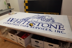 Metal signs with vinyl lettering and graphics (12)