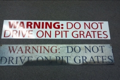 Metal signs with vinyl lettering and graphics (2)