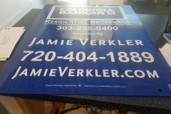 Metal signs with vinyl lettering and graphics (6)