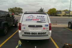 ASAP Roofing van graphics and lettering with window perforation (1)