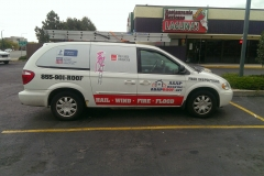 ASAP Roofing van graphics and lettering with window perforation (2)