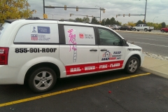 ASAP Roofing van graphics and lettering with window perforation (3)