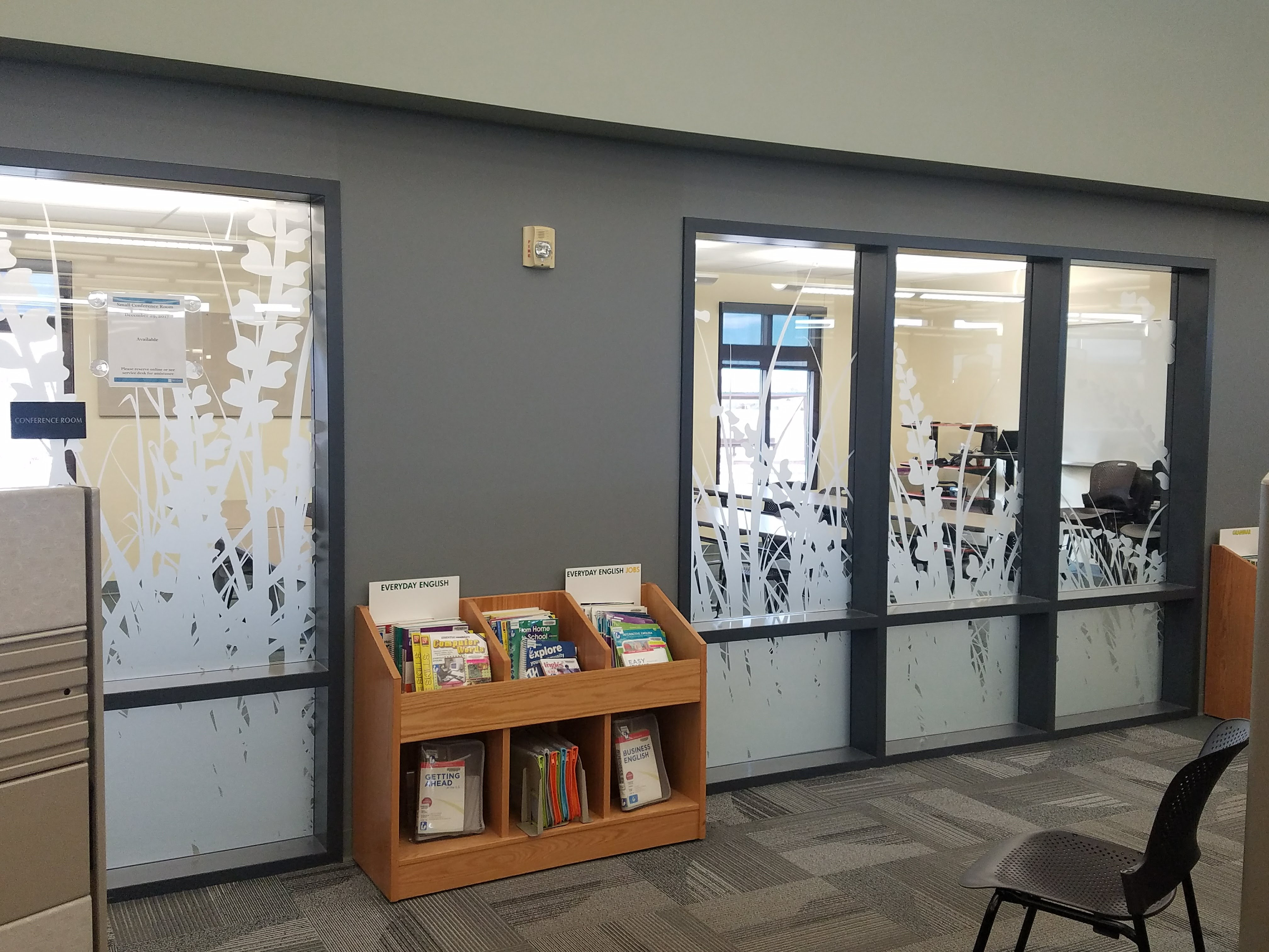 High Plains Carbon Valley Library Conference room window vinyl (2) & Window Lettering « Paramount Printing \u0026 Graphics