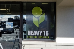 Vinyl window lettering, graphics and perforation (6)